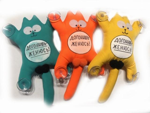 М'яка іграшка Кіт Саймон з лого Наздоженеш! Одружуся!