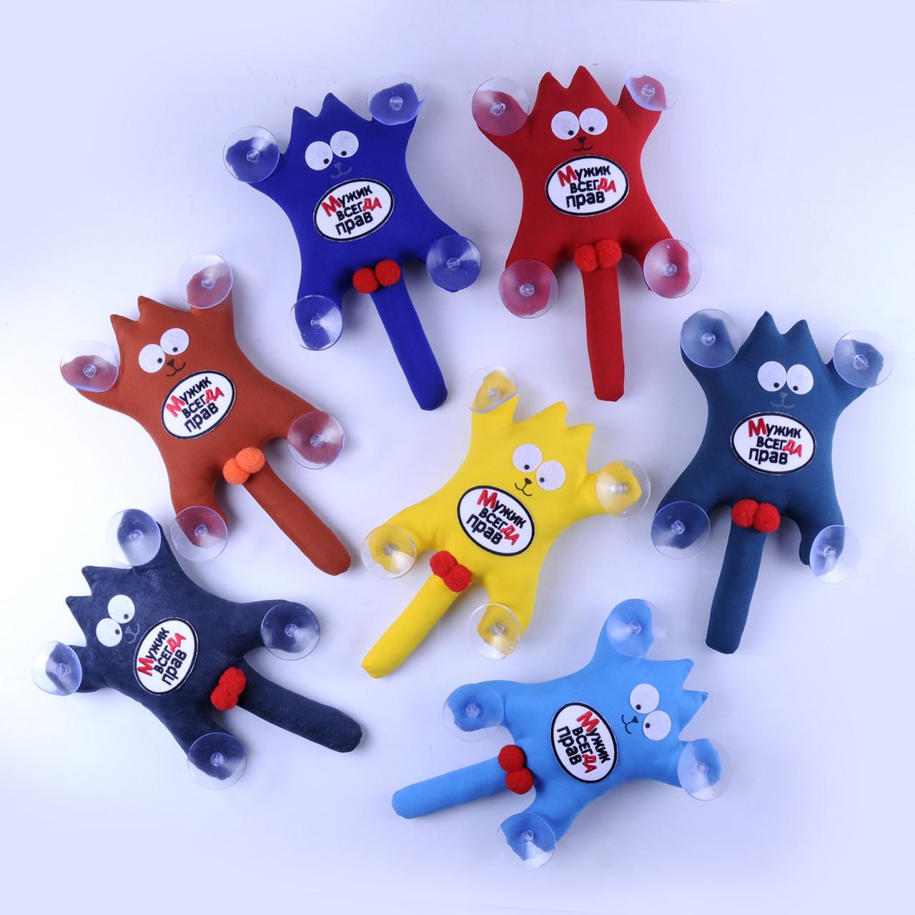 Мягкая игрушка Кот Саймон с лого Мужик всегда прав
