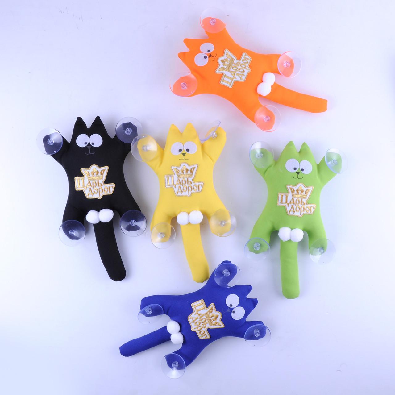 М'яка іграшка Кіт Саймон з лого Цар Доріг ручна робота