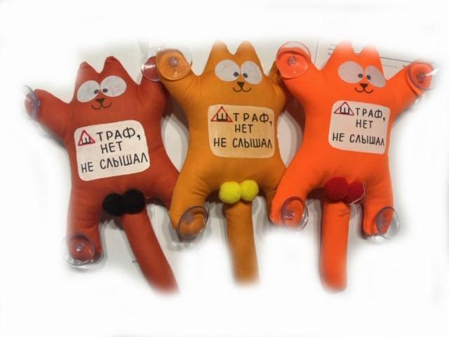 М'яка іграшка Кіт Саймон з лого Штраф, Ні не Чув!