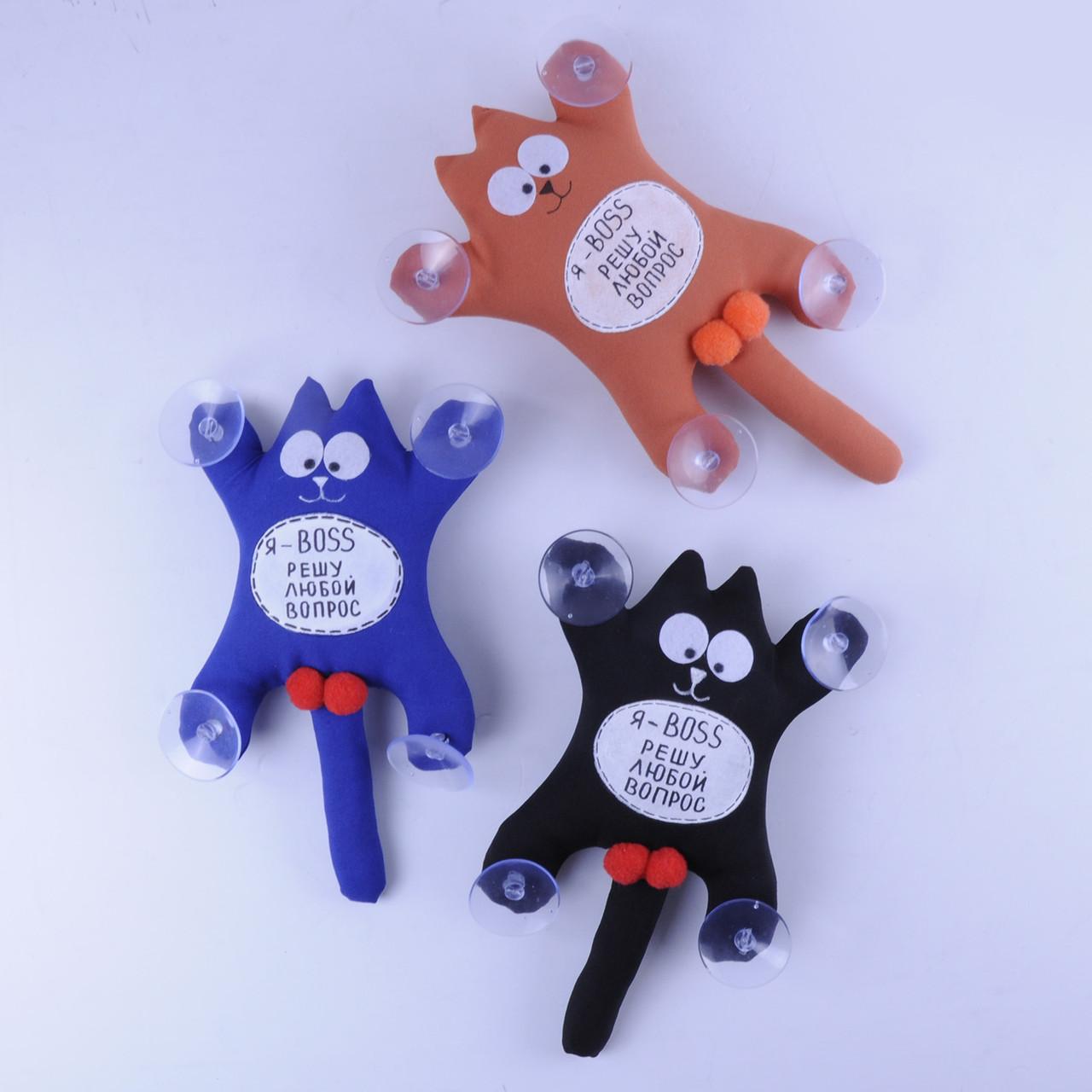 М'яка іграшка Кіт Саймон з лого Я-BOSS,вирішу будь-яке питання..... ручна робота