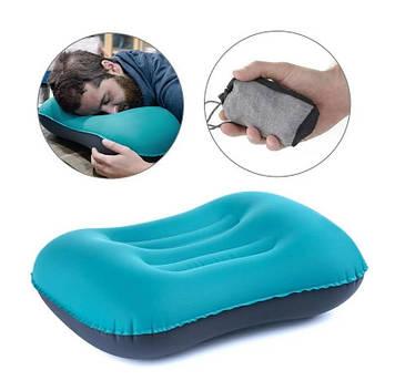Подушка дорожная под голову надувная Автоматическая Pillow RH-35