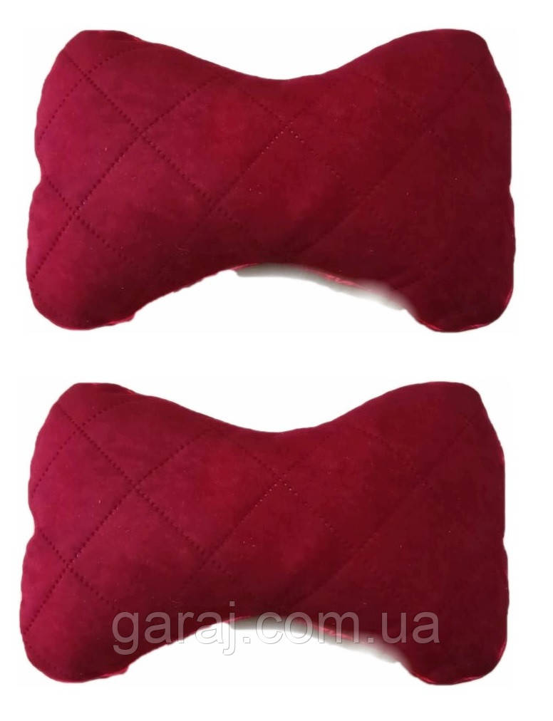 Подушка на підголовник тканина Антара червона (2шт)