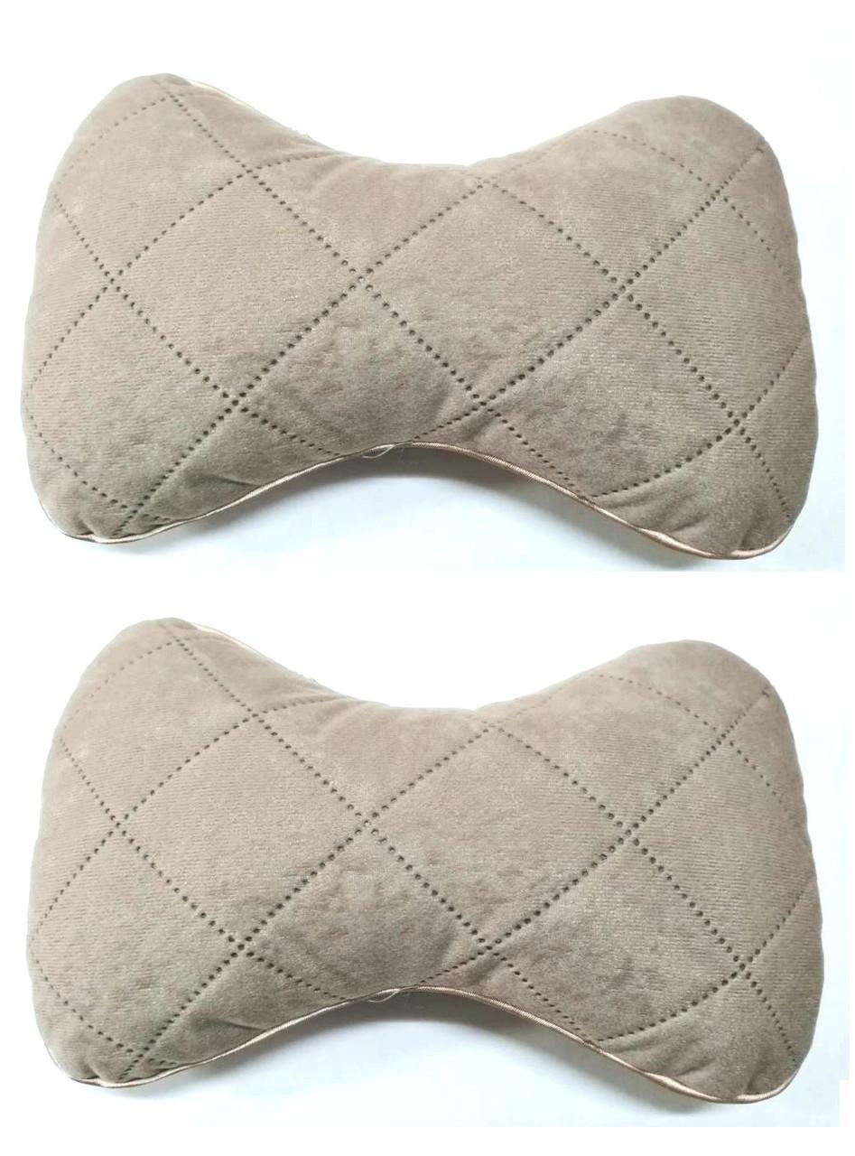 Подушка на подголовник ткань Антара светло бежевая (2шт)