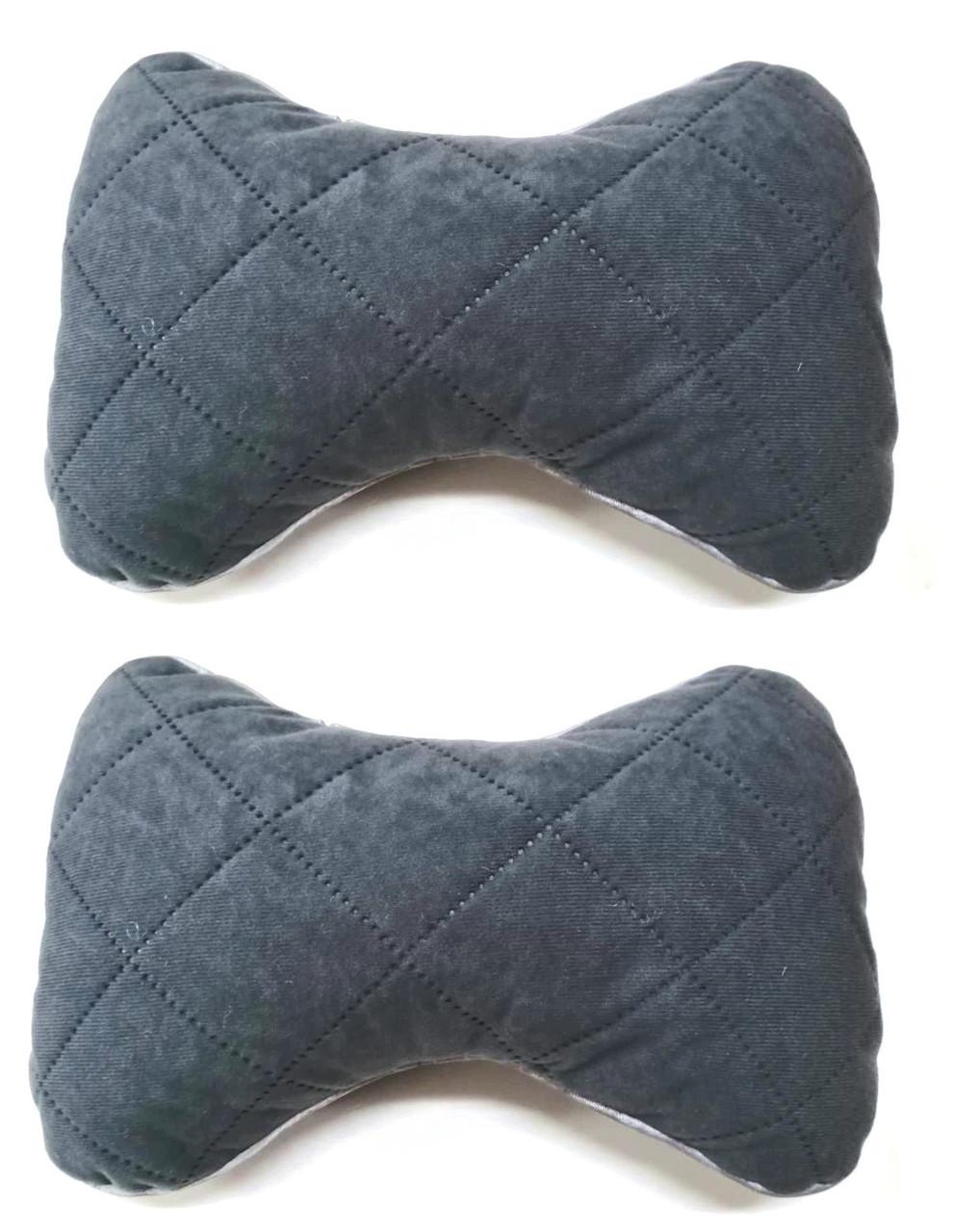 Подушка на підголовник тканина Антара сіра (2шт)
