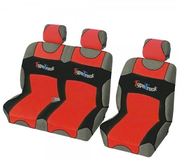 "Майка bus ""B"" чорна/червона автоткань ""MILEX"" TypeTruck (2+1)"