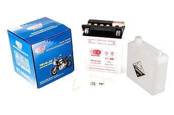 Мото аккумулятор АКБ (Аккумулятор на скутер, мотоцикл, мопед) 12В (V) 10А заливной (134x89x166, белый,