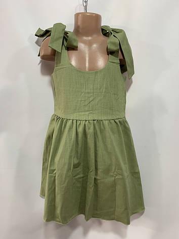 Летний сарафан для девочки р. 6-10 лет зеленый, фото 2