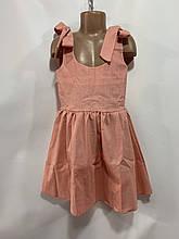 Летний сарафан для девочки р. 6-10 лет розовый