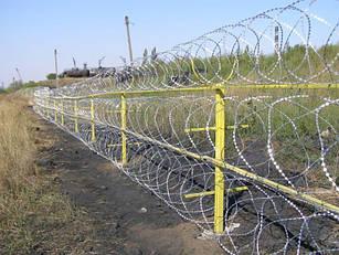 Егоза колючая проволока диаметром 600х5, на 5 скоб, (в бухте 17м\п) доставка по Украине.