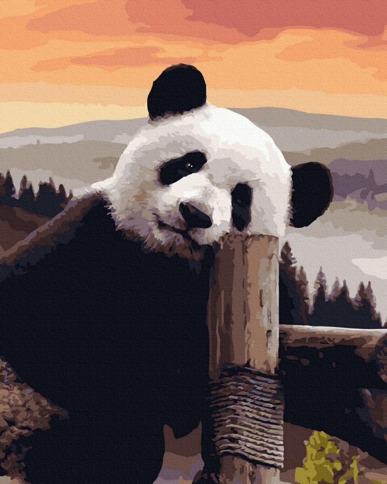 BK-GX40117 Раскраска для рисования по цифрам Милая панда, Без коробки
