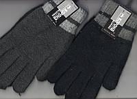 Перчатки мужские шерстяные двойные с начёсом Корона, ассорти, 8101
