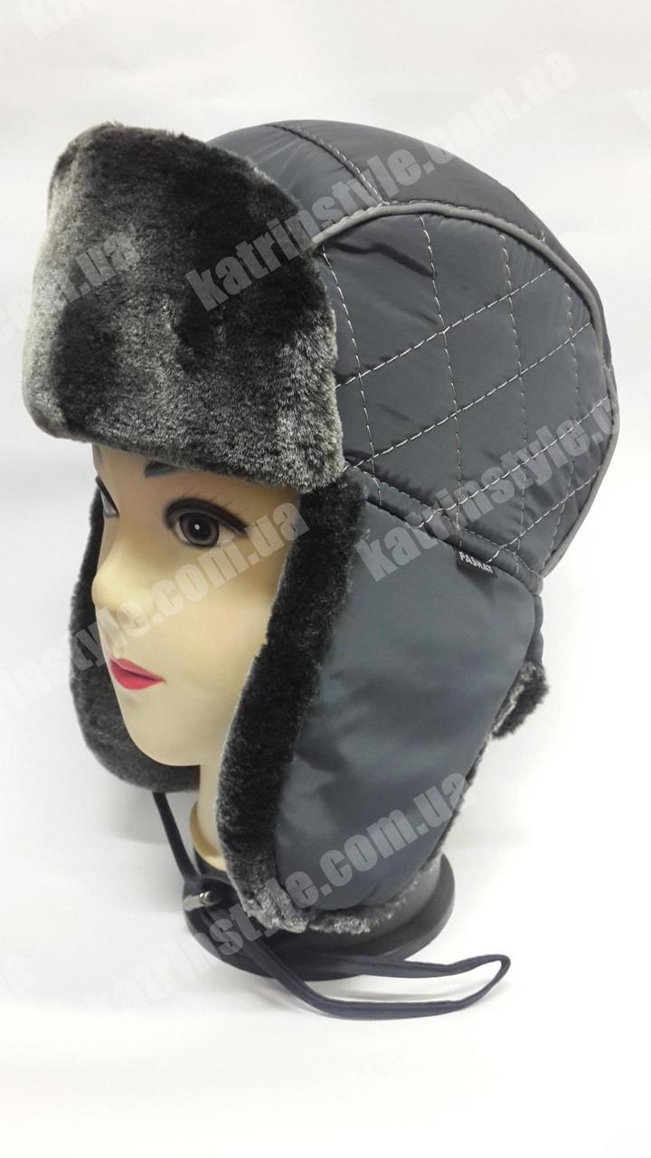 Зимняя шапка-ушанка мужская