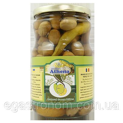 Оливки Азена з перцем та лимоном Athena 700/425g 12шт/ящ (Код : 00-00006080)