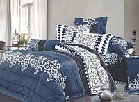 Комплект постельного белья Семейный размер Viluta Ранфорс ( 2 подоедяьника ) арт. 8630 синий
