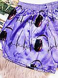Шовкова піжама Топ білий на бретелях ( регулюються) і шортики хочу заміж Шовк Армані фіолетового кольору, фото 2