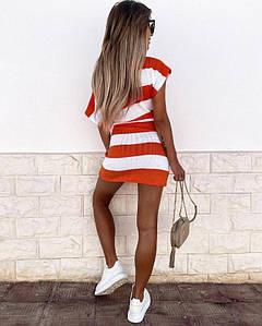 Женское летнее платье. Ткань-вязка- софт с хлопком. Размер 42-46.