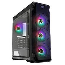 Корпус ATX GameMax StarLight FRGB 4*FAN120мм RGB LED 2*USB2.0 1*USB3.0 прозр. стенка чёрный новый