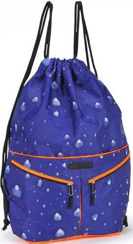 Яркий прочный молодежный  рюкзак, Dolly (Долли) 836 синий