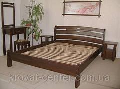 """Кровать """"КАПРИЗ"""". Массив - сосна, ольха, дуб."""