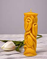 Свічка воскова Тюльпан з натурального бджолиного воску