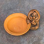 Керамічна сільничка з червоної глини Бабуся, фото 2