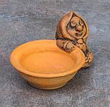 Керамічна сільничка з червоної глини Бабуся, фото 3