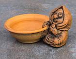 Керамічна сільничка з червоної глини Бабуся, фото 4