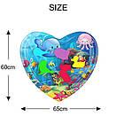 ОПТ Розвиваючий дитячий водний надувний ігровий килимок Серце морська тематика, фото 7