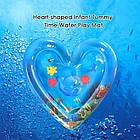 ОПТ Розвиваючий дитячий водний надувний ігровий килимок Серце морська тематика, фото 3