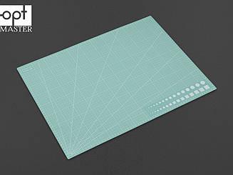 Коврик для раскройки кожи и ткани двухсторонний А2 Светло-зелёный