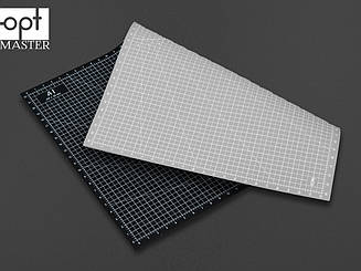 Коврик для раскройки кожи и ткани двухсторонний А1 Серый+чёрный