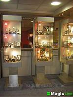 Торговая мебель из стекла