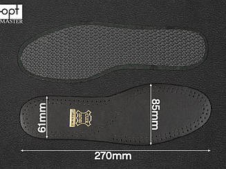 Стельки для обуви Saphir Black leather on charcoal (226) 42