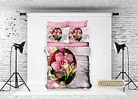 """Постельное белье 3D-сатин модель """"Орхидея"""" Cotton Lux"""
