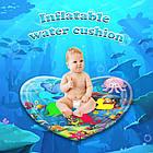 ОПТ Розвиваючий дитячий водний надувний ігровий килимок Серце морська тематика, фото 6