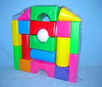 Кубики - конструктор «Строитель» - 18  элементов.