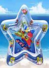ОПТ Водний розвиваючий дитячий надувний ігровий килимок Зірка 60*65см морська тематика, фото 7