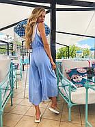 Легкий летний комбинезон женский на бретелях, 00958 (Голубой), Размер 42 (S), фото 5
