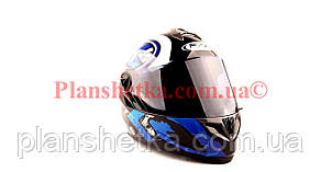 Шлем для мотоциклов Hel-Met 122 Blue (синий) темный визор