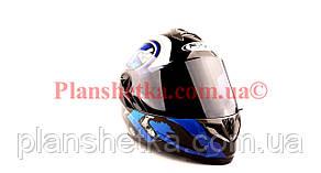 Шолом для мотоциклів Hel-Met 122 Blue (синій) темний візор