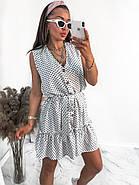 Сукня жіноча вільного крою на ґудзиках, на спідниці легка збірка у вигляді широкого волана, 00960 (Білий),, фото 5