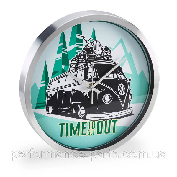 Настенные часы Volkswagen T1 Bulli Wall Clock, артикул 1H2050810 Официальная коллекция Volkswagen