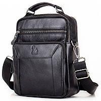 Кожаная сумка мужская Laoshizi Luosen 029-2 черная