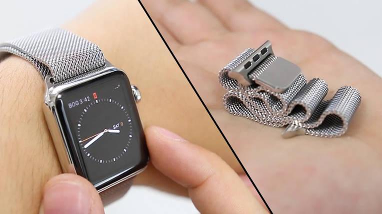 Ремешок для часов Milanese Magnetic (миланская петля) Металлик 38/40 mm, фото 2
