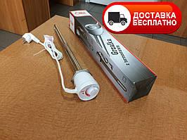 Электрический тэн Eliko 2 кВт с терморегулятором 1 1/2  GRBT 220 В, нагревательный элемент для бойлера