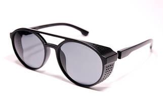 Мужские солнцезащитные круглые очки авиаторы Порше 97373 C1 реплика Черные