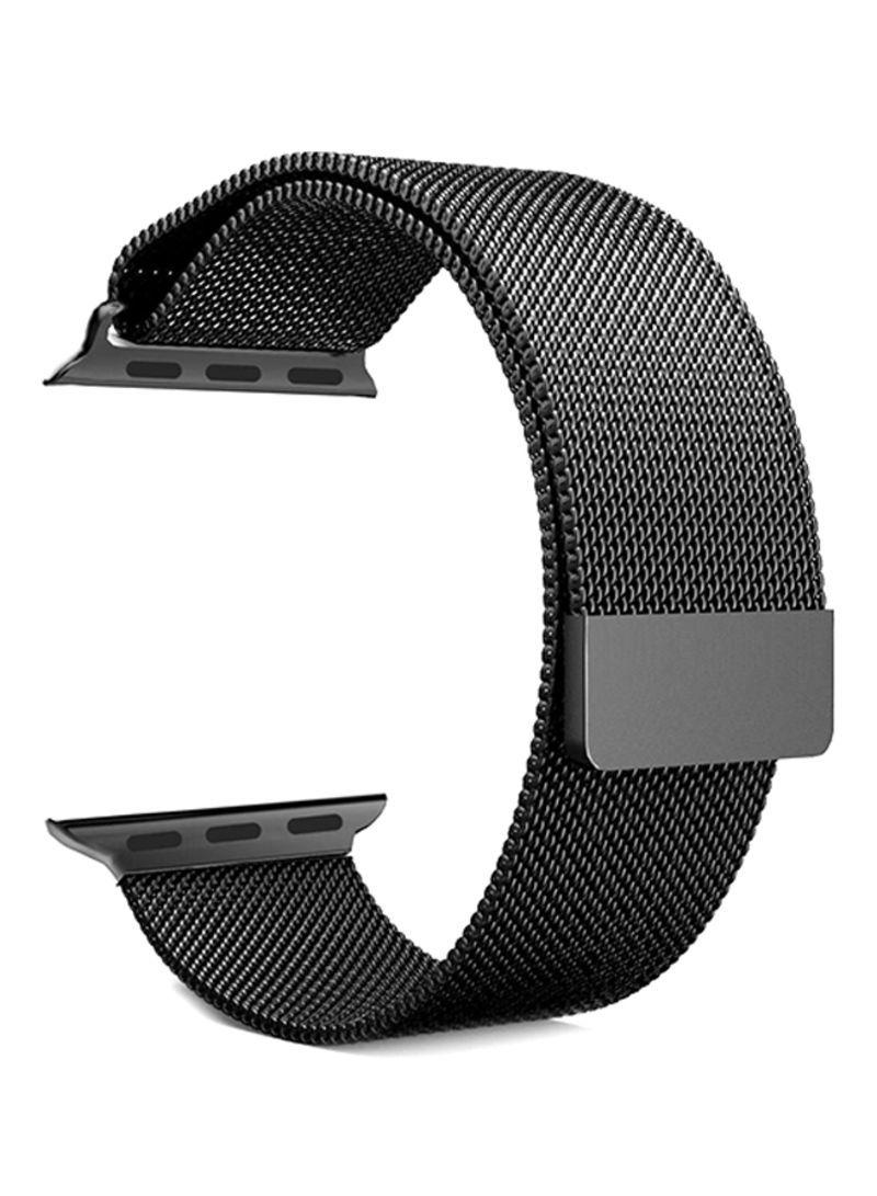 Ремешок Milanese Loop для Apple Watch Black 38/40 mm