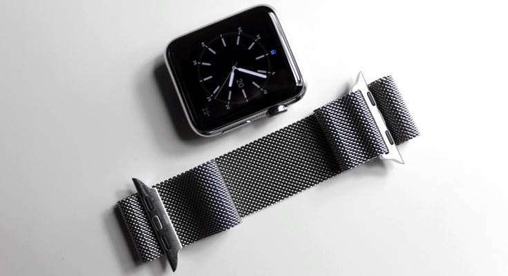 Ремешок Milanese Loop для Apple Watch Black 38/40 mm, фото 2