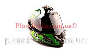 Шлем для мотоцикла Hel-Met 122 Green (зелёный) темный визор